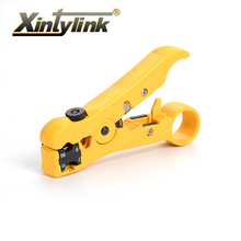цена на xintylink network hand tool pliers knife flat round line utp rj45 cat5 cat6 wire coax coaxial stripping cable stripper cutter