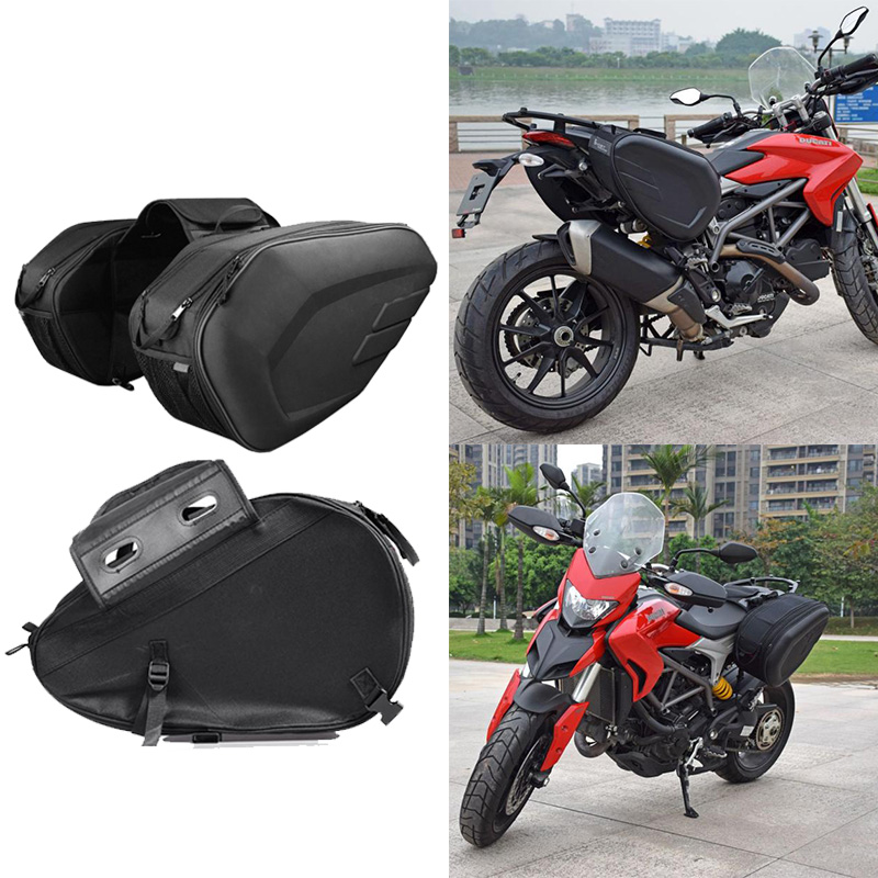 Image 2 - new High Quality Waterproof Moto Tail Luggage Suitcase Saddle Bag Motorcycle Side Helmet Riding Travel Bags With Rain Cover