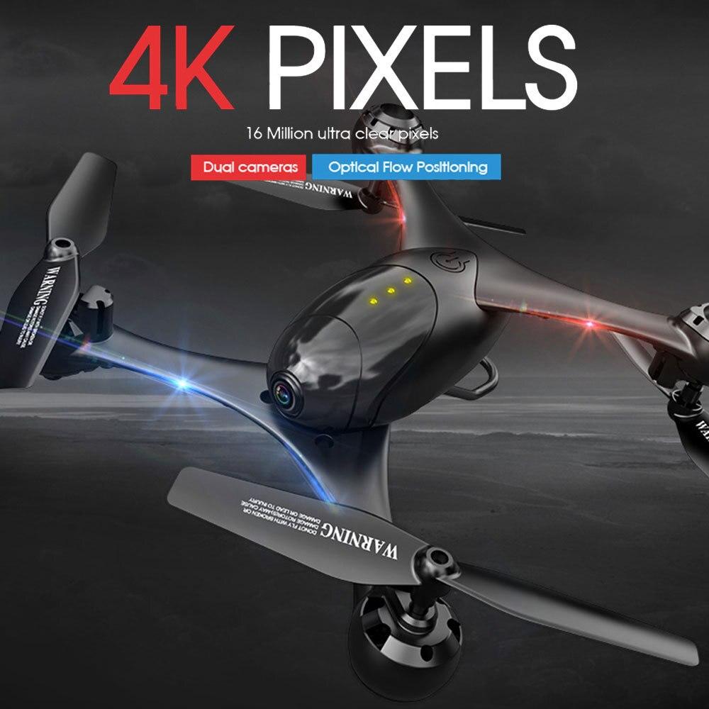 Kf600 lm06 zangão 4k/1080p wifi fpv dupla câmera de fluxo óptico posicionamento gesto controle altitude hold quadcopter vs sg106 pm9