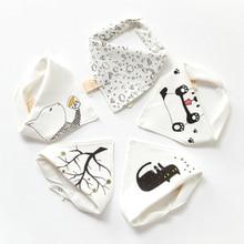 5Pcs/Lot Fashion Cotton Baby Towel Newborn Triangle Scarf Girls Feeding Smock Infant Bibs Burp Cloths Baby Accessories 2018
