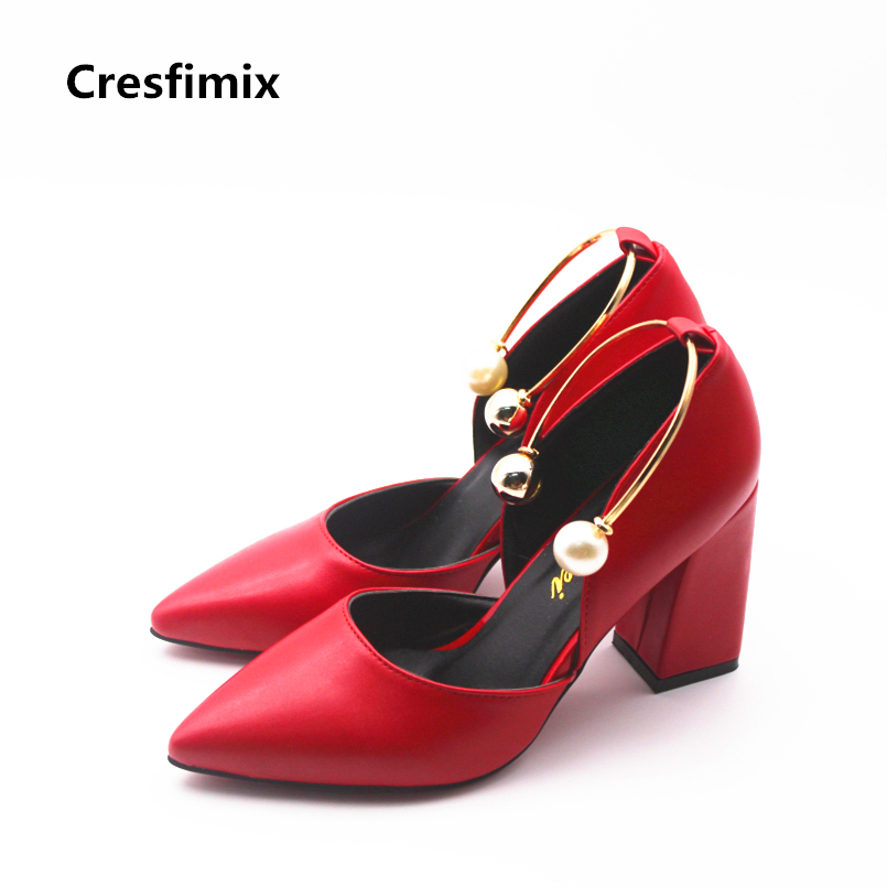 Cresfimix tacones altos women fashion comfortable pu leather slip on high heel shoes lady sexy party night club high heel pumps cresfimix women fashion