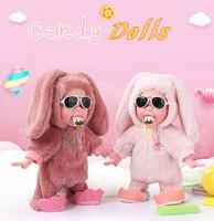 35cm Plush Music Rabbit Dolls Reborn Baby Toys Plush Dog Baby Born Fashion Dolls For Kids