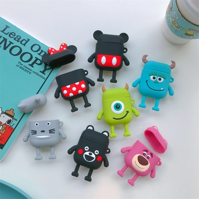 Cartoon Wireless Bluetooth Earphone Case For Apple AirPods 1 Silicone Charging Headphones Cases For Airpods 2 Protective Cover
