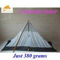 Apenas 380 gramas 3f ul gear 4 estações ao ar livre barraca de acampamento de verão