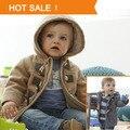 Botão 2013 Moda Inverno Chifre Espessamento Criança Outerwear Casaco Masculino Criança Outerwear Menino Jaqueta de Varejo