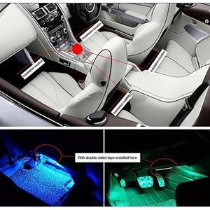 Image 5 - Atmosfera interior do carro luz de néon led multi cor rgb voz sensor som música controle decoração decorativa lâmpada iluminação do carro 12v