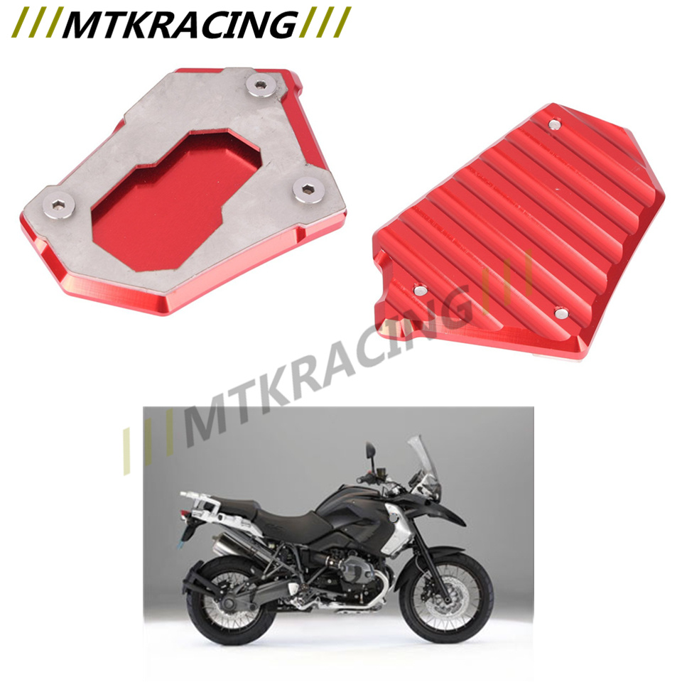 For BMW R1200GS r1200gs 2012 2016 CNC Kickstand Side Stand Enlarger Extension Plate Pad
