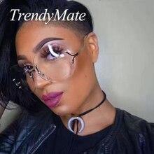 Hot Fashion 2017 New Vintage Rimless Sunglasses Women High Quality Gradient Bar Women Clear Lens Sun Glasses Ladies Sexy 375M