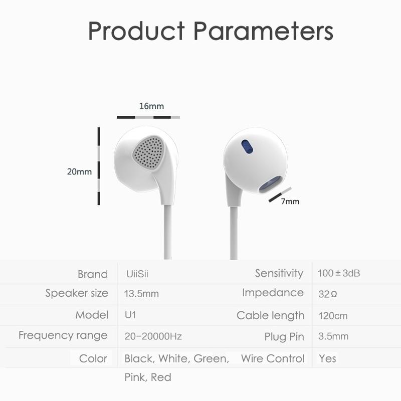 Auriculares deportivos con micrófono UiiSii U1 Auriculares con - Audio y video portátil - foto 6