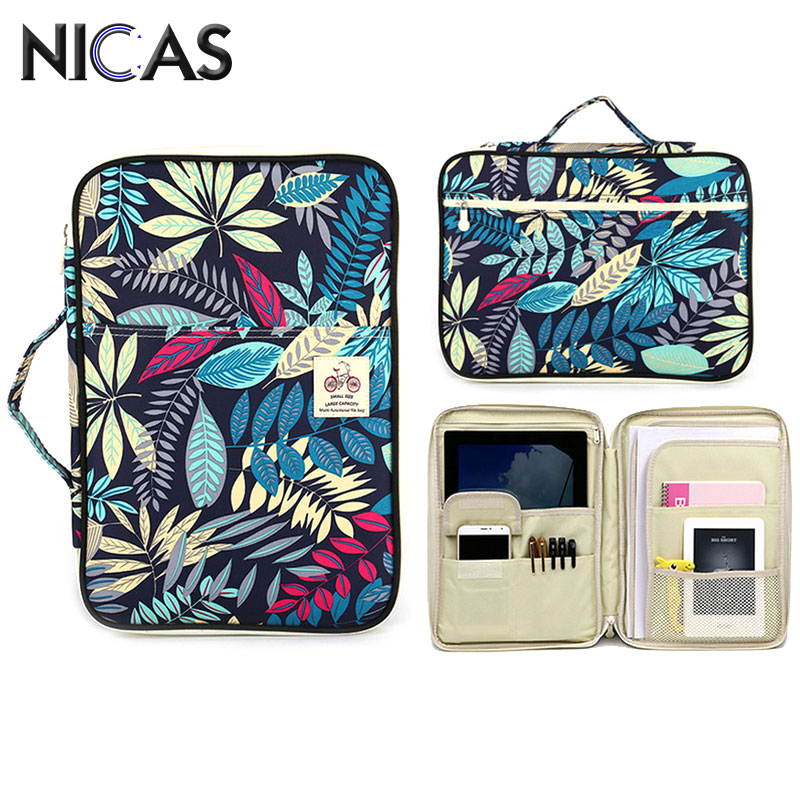 все цены на NICAS Multifunction BOHO Style Oxford Cloth Pencil Bag For Pens Notebooks iPad Computer School Portable Stationery Bag F170901b онлайн