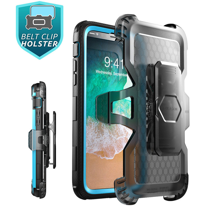 Image 4 - For iphone Xs Max Case i Blason Armorbox Full Body Heavy Duty Shock Reduction Case with Built in Screen Protector & KickstandFitted Cases   -