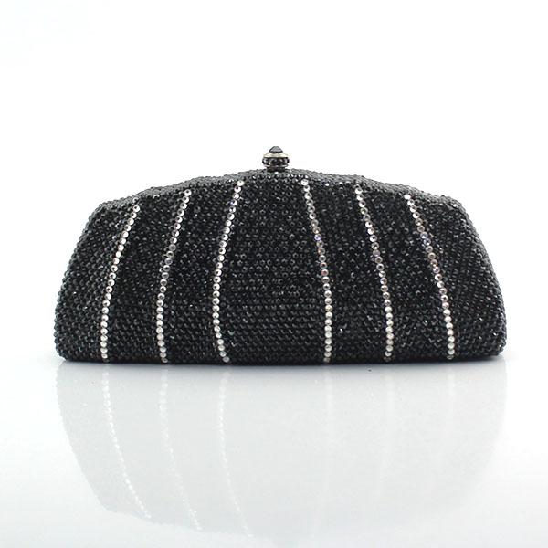 Black Evening Bags Luxury Crystal Women Evening Clutch Bags Bride Wedding Party Handbags(1020-SB)