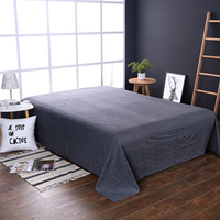 Modern Style Black Solid Polyester Fabric Soft 1Pcs Bedding /Bed Set/Bedclothes/Bed Linen Bed Sheet 240x250cm 3 Size Home Textil