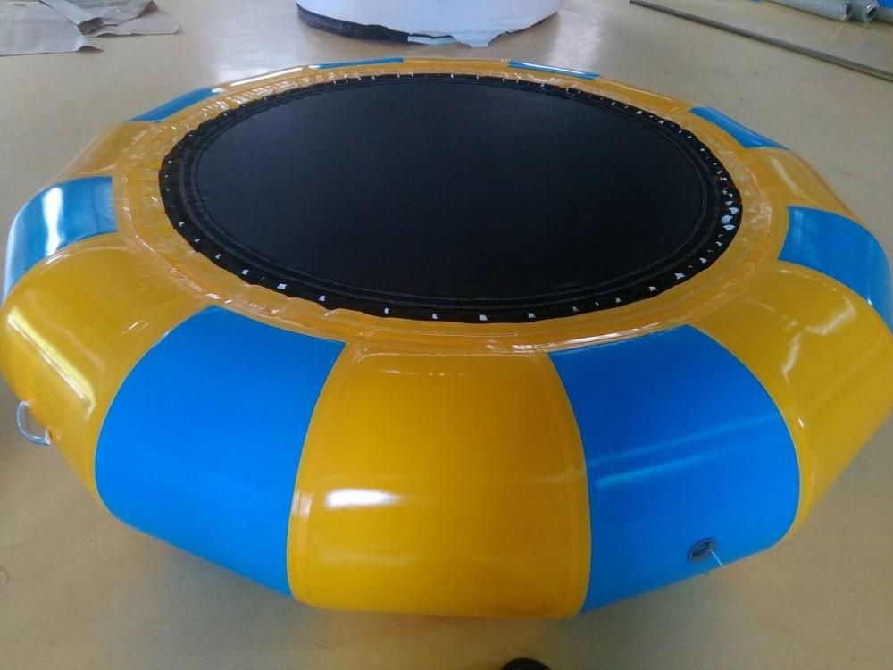 Wassertrampolin 3 M Durchmesser 0,6 mm PVC Aufblasbares rundes Trampolin Lagerpreis Aufblasbares Spielzeug