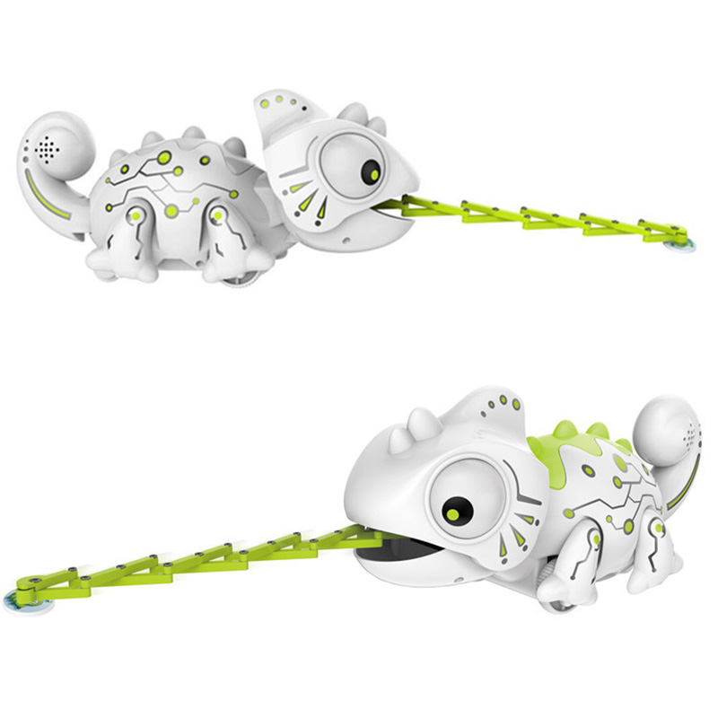 RC Robot Chameleon Electronic Pets Toys Robotic Animals Can Eating Remot Control Dragon Intelligent Toys For Children