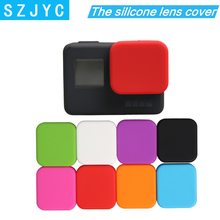 Housing Case Soft Silicone Protective Black Lens Cap Cover For GoPro 4K HERO 5 6 7 недорого