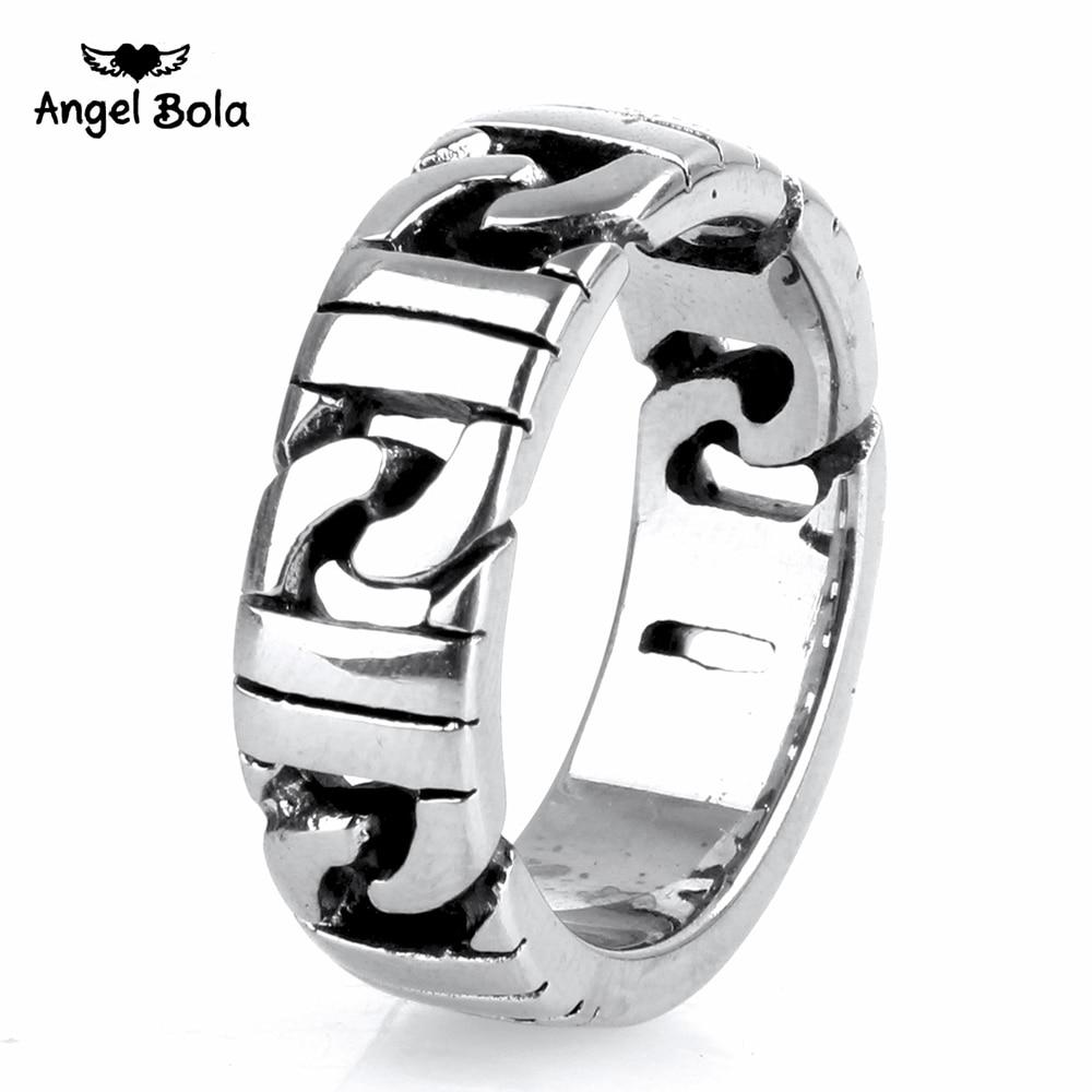 10pcs Wholesale Titanium Stainless Steel Buddha Ring Rock Ring Hot Sale Finger Art Retro Punk Biker