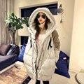 Down jacket longo, women ' s casual casaco quente casaco de inverno com capuz de médio - feminino ferramental espessamento outerwear LW028