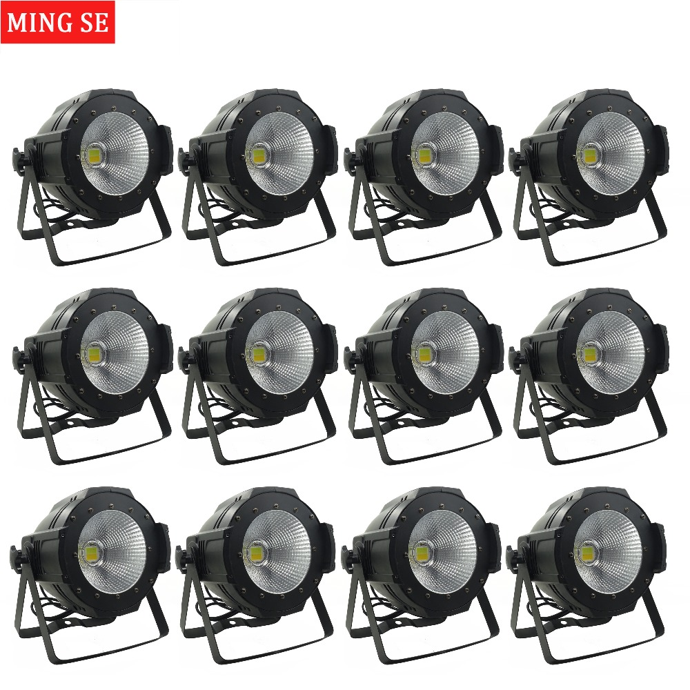 12units LED Par COB Light 100W High Power Aluminium DJ DMX Led Beam Wash Strobe Effect Stage Lighting,Cool White and Warm White