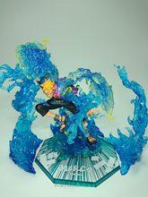 Uma peça marco figura marco led efeito de luz fogo sence zero phoenix 18cm pvc figura ação anime brinquedo coleção modelo presente