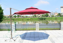 360 degree rotation of outdoor umbrellas UV pedestrian plaza patio umbrella shade High