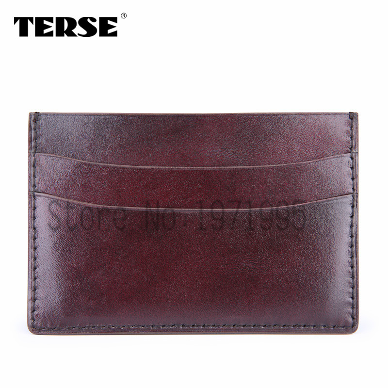TERSE Black Friday sale handmade leather card holder font b mens b font credit card Italian