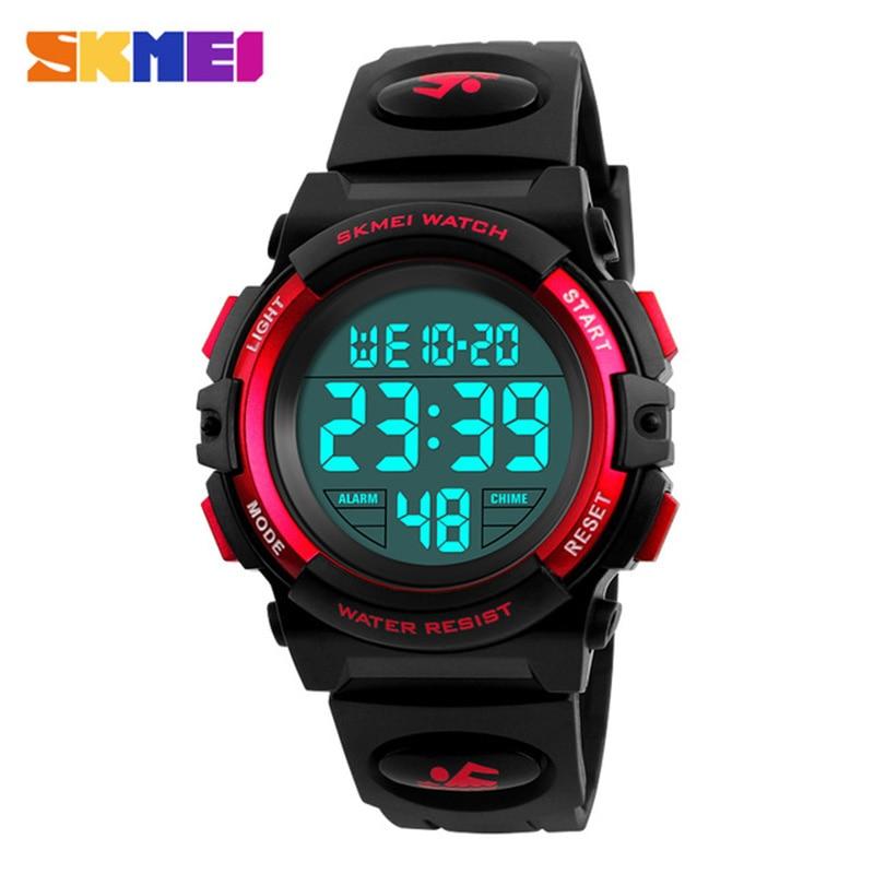 50m Waterproof Children's Watches LED Multifunction Digital Kids Wrist Watches Children Dress Watch For Boys Girls SKMEI 2018