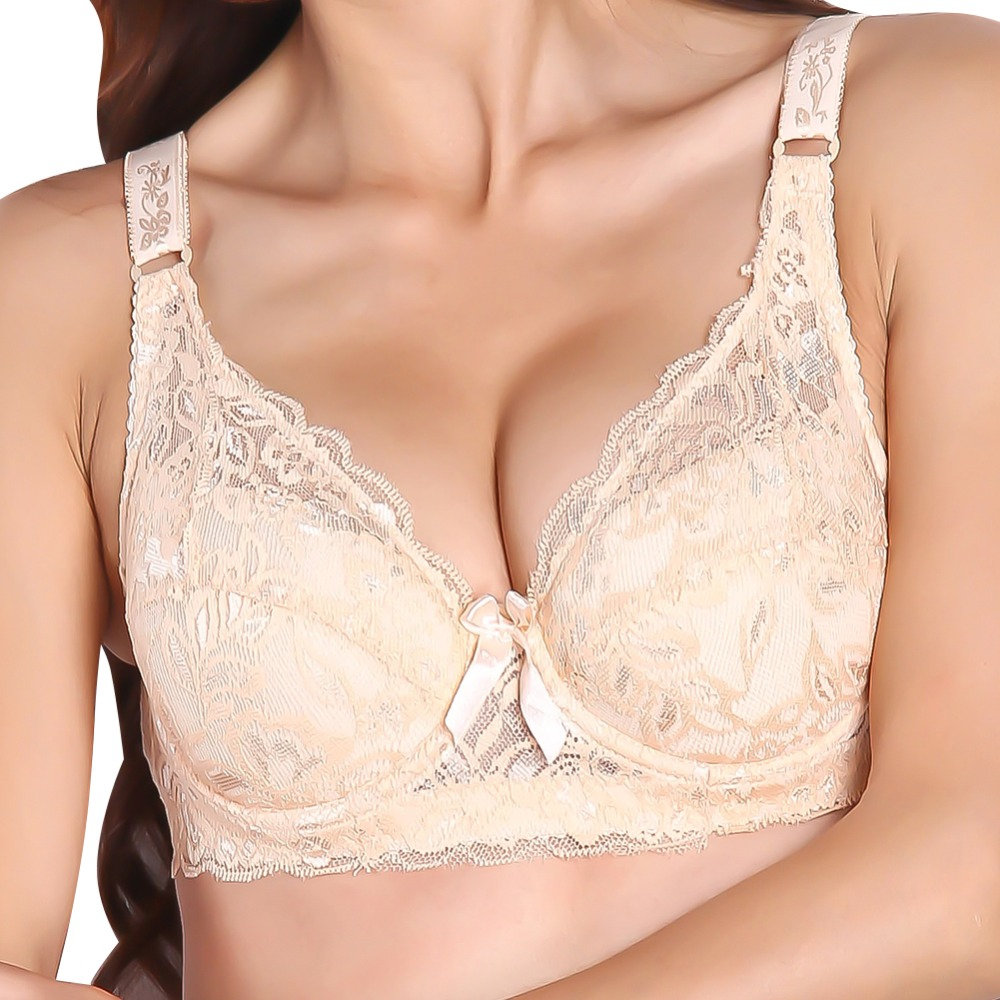 Kvinder sexet undertøj Brand Lace Minimizer Polstret Lace Sheer Push Up Bh 34 Cup