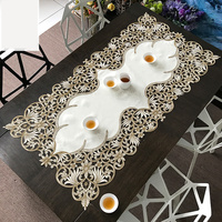 Europe embroidered classical Hollow cabinet cloth rectangle coffee table mat flag table runner M570