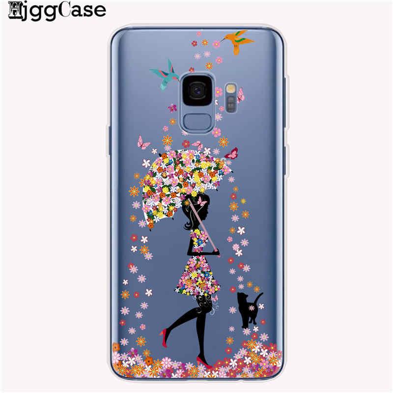 Karikatür Kelebek Desen Çiçek Yumuşak TPU Silikon Telefon arka kapak kılıfı Samsung Galaxy A10 A20 A50 A30 A70 A6 A8 A7 a9 2018