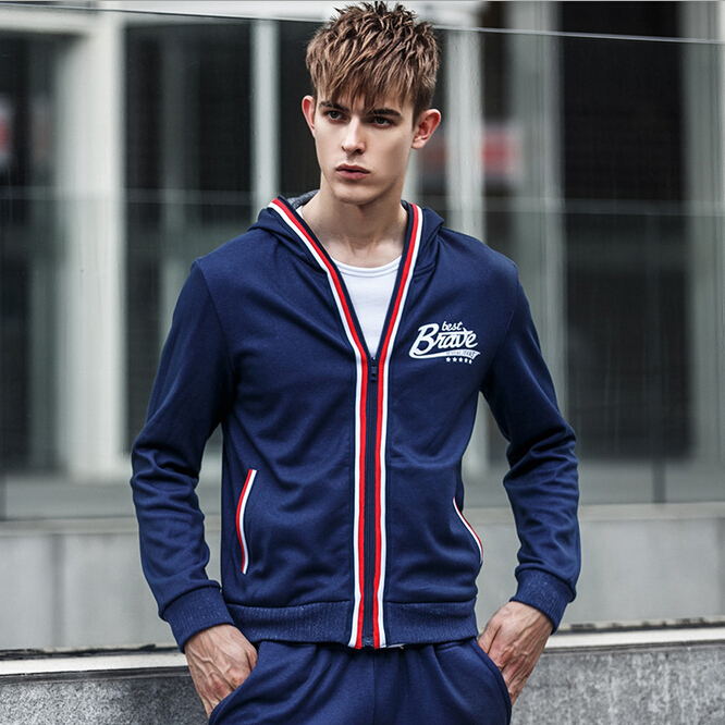 2015 spring autumn new boy hooded cardigan style coat teen slim fit men's  clothing hoodies sweatshirts bape sudaderas tracksuit