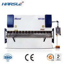 2500mm Harsle WC67K series hydraulic servo CNC press brake metal plates meets European standard security guarantee