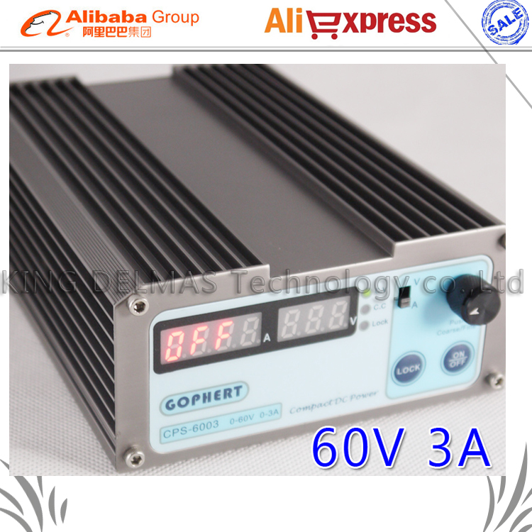 Free shipping precision Compact Digital Adjustable MINI DC Power Supply OVP/OCP/OTP low power 60V3A 110V-230V 0.01V/0.01A 1 pc cps 3220 precision compact digital adjustable dc power supply ovp ocp otp low power 32v20a 220v 0 01v 0 01a