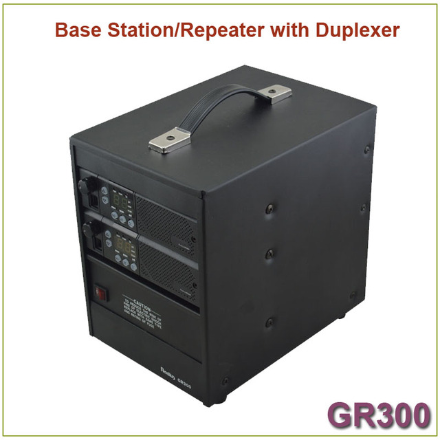 Brand New GR300 Two-way Radio Walkie Talkie  Base Station/ Repeater 350-390MHz 25Watts 8 Channels Repeater with Duplexer 2