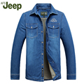 AFS JEEP In the winter of 2016 the new men's denim shirts men's leisure thickening and flannel shirts men's cotton shirt 169