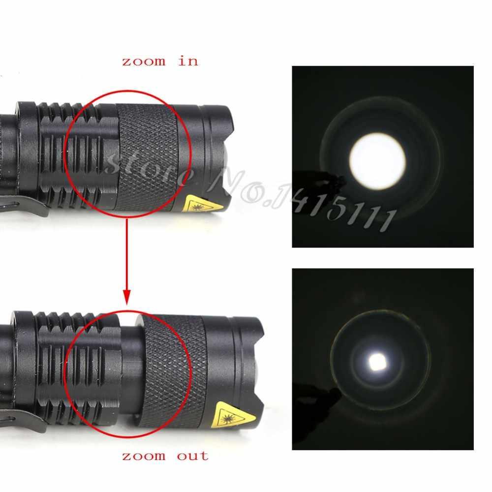 Anjoet Mini PHÓNG TO 2000LM CREE Q5 ZOOM Chiến Thuật Đèn Pin Pin AA HOẶC pin 14500 Mini Đèn Pin + Mini bao da