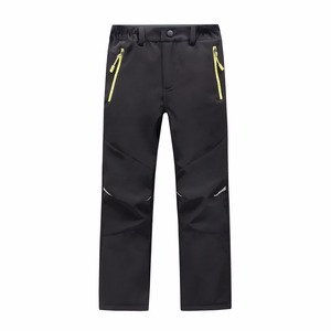 Image 4 - Marca impermeável à prova de vento meninos meninas calças crianças outerwear quente calças de escalada esportiva para 4 14 anos de idade