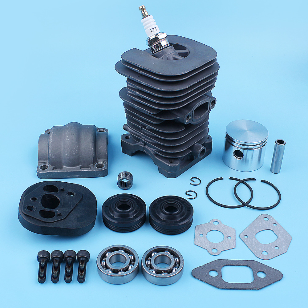 Cylinder Piston Pan Crank Bearing Seal Gasket Kit For MCCULLOCH MAC CAT 335 435 440 338 438 444 Chainsaw Nikasil Plated
