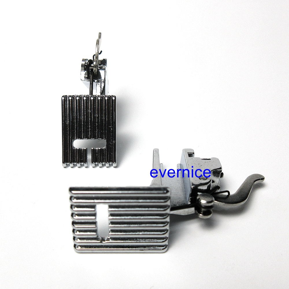 2 Sets High Shank 9 Grooves Pintuck Presser Foot for Singer Brother Janome Kenmore