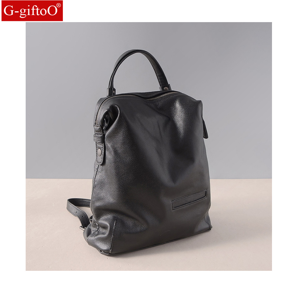 Fashion Genuine Leather Backpack Women Bags Preppy Style Backpack Girls School Bags Zipper Leather BackpackFashion Genuine Leather Backpack Women Bags Preppy Style Backpack Girls School Bags Zipper Leather Backpack