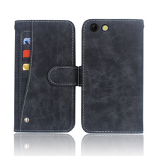Hot! Prestigio Muze D3 Case High quality flip leather phone bag cover case for with Front slide card slot