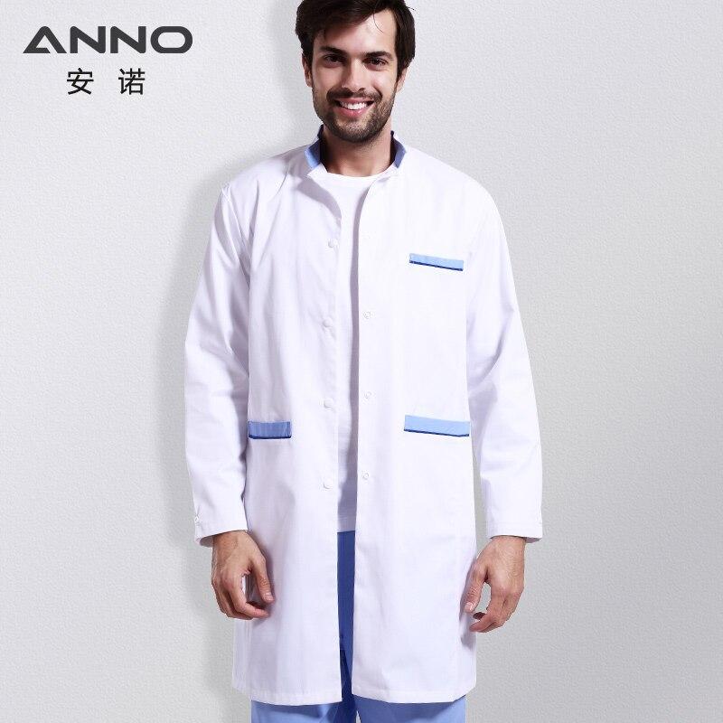 ANNO Fehér Egészségügyi Lab kabát ruházat hosszú ápoló orvosok kabát női férfi fogorvos eldobható laboratóriumi kabát bozót dzsekik
