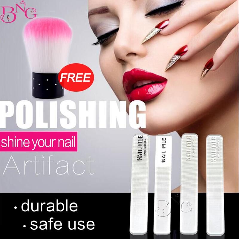 1 unid Reforzado Nail Shiner Nail Shiner Pulidor de uñas Herramienta - Arte de uñas
