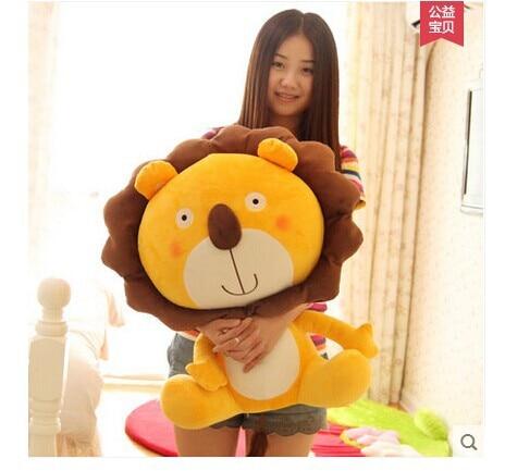 stuffed animal toy large 60cm cartoon lovely lion plush toy,throw pillow ,birthday gift b9977