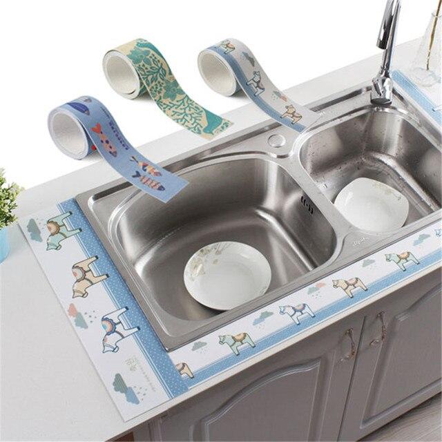 Self Adhesive Sink Waterproof Stickers Bathroom Toilet Basin Absorbent  Sticker Decals Dustproof Table Wall Stickers