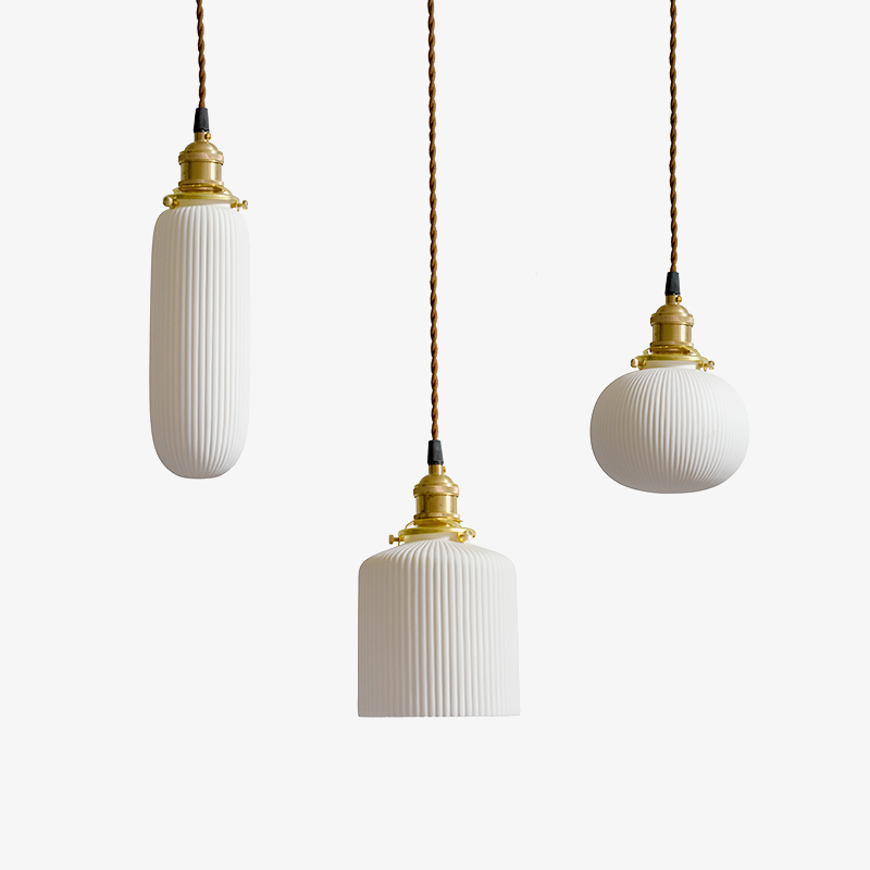 Nordic post modern simple ceramic shade art pendant light restaurant bedroom parlor decoration LED droplight lighting fixture nordic post modern simple ceramic shade art pendant light restaurant bedroom parlor decoration led droplight lighting fixture
