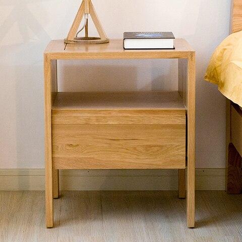 Japonés minimalista armarios de madera maciza de IKEA mesita de ...
