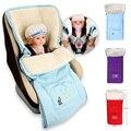 2017 hot sale 1 pc Warm Envelope for Newborn Baby Stroller Fleece Sleeping Bag Red Purple B Footmuff Sack Infant Pushchair