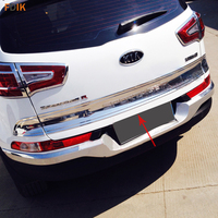 ABS Chrome Rear Door Rear Trunk Lid Trim Tailgate Cover for Kia Sportage R 2011 2012 2013 2014 2015