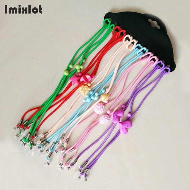 Imixlot 12pcs/Lot Mix Color Elastic Glasses String Bungee Cord Sunglasses For Kid Children Eyewear Lanyard Neck Rope Strap
